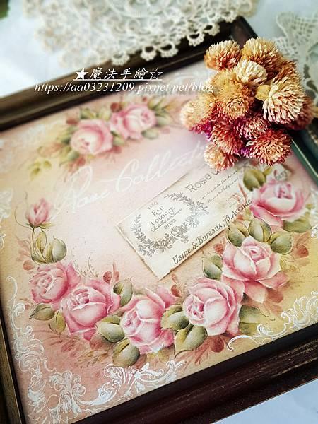 玫瑰花圈-彩繪教學-雲林縣斗六市