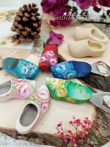 荷蘭鞋彩繪-玫瑰彩繪