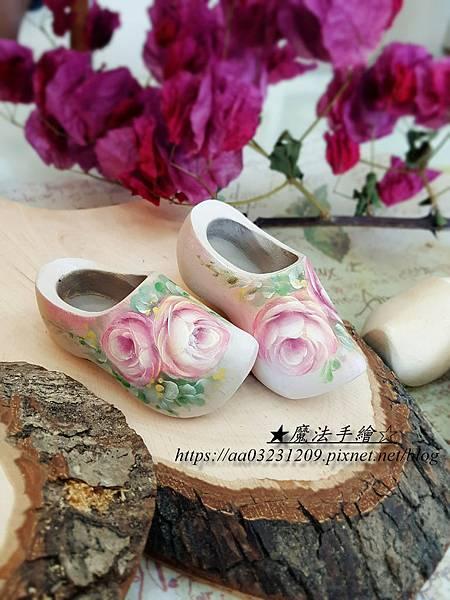 彩繪荷蘭木鞋-魔法手繪