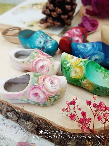 玫瑰荷蘭鞋彩繪-魔法手繪坊