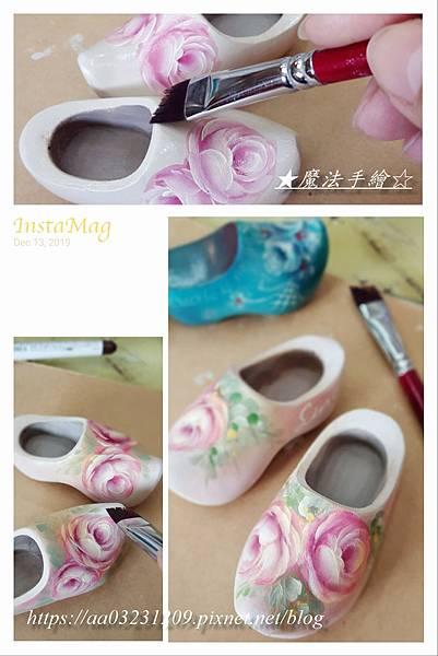 木鞋彩繪/開瓶器彩繪/玫瑰彩繪