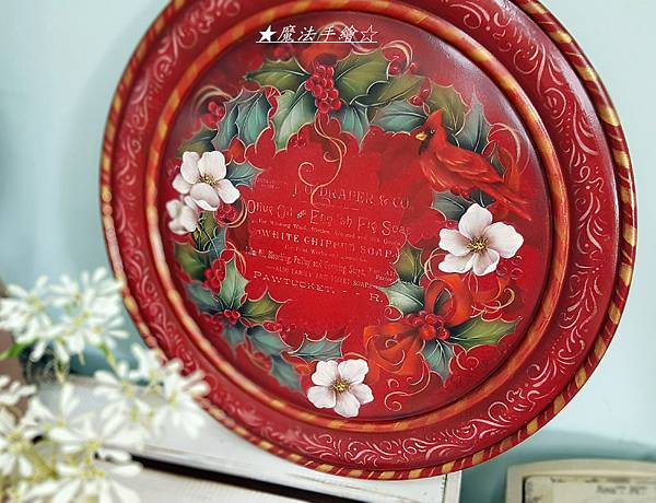 圓盤彩繪-聖誕彩繪