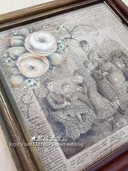 玫瑰彩繪-日本絹印彩繪