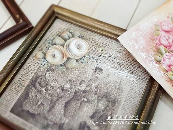 日式復古框飾-絹印彩繪應用