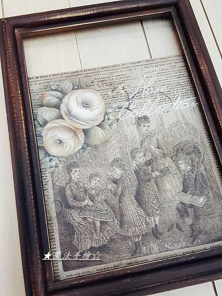 木框彩繪-玫瑰彩繪/魔法精緻手繪坊
