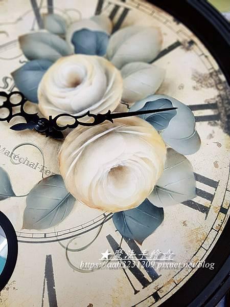 玫瑰彩繪-羅馬鐘彩繪-魔法精緻手繪坊