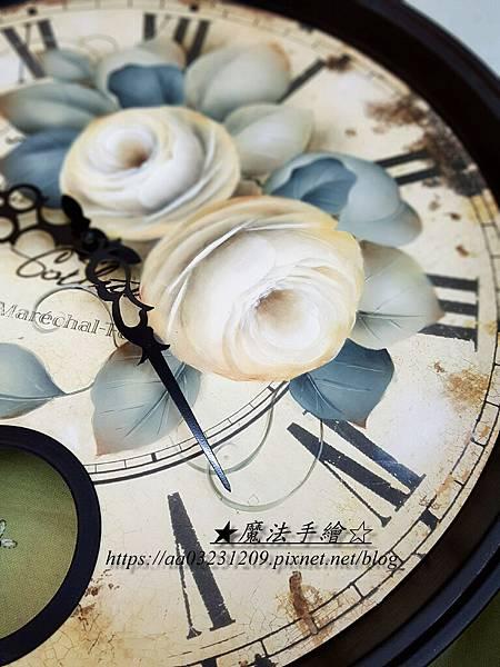 雜貨彩繪-玫瑰彩繪-時鐘彩繪