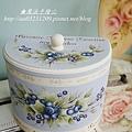 藍莓彩繪-半圓盒彩繪