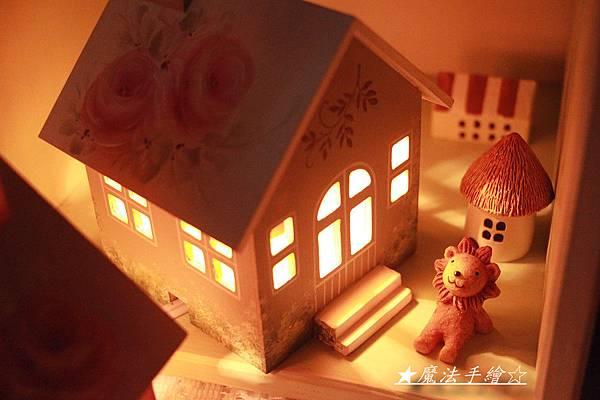 夜燈小屋彩繪教學