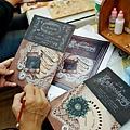 絹印證書教學記錄-魔法手繪