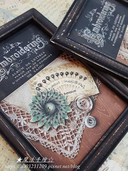 魔法手繪-絹印證書作品