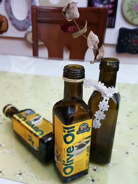 橄欖油瓶-彩繪應用-魔法手繪坊