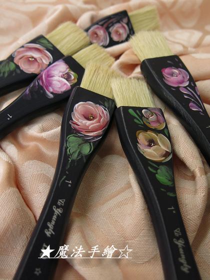 玫瑰彩繪-木質畫筆桿彩繪應用