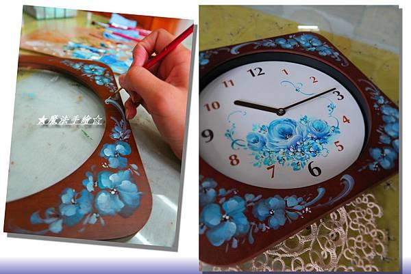 彩繪時鐘-時鐘款彩繪應用-魔法手繪