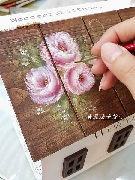 玫瑰彩繪信箱-魔法精緻手繪坊