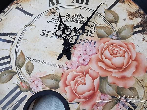 鐵藝大圓鐘-圓鐘彩繪-魔法手繪坊