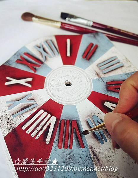 彩繪時鐘款-彩繪教學