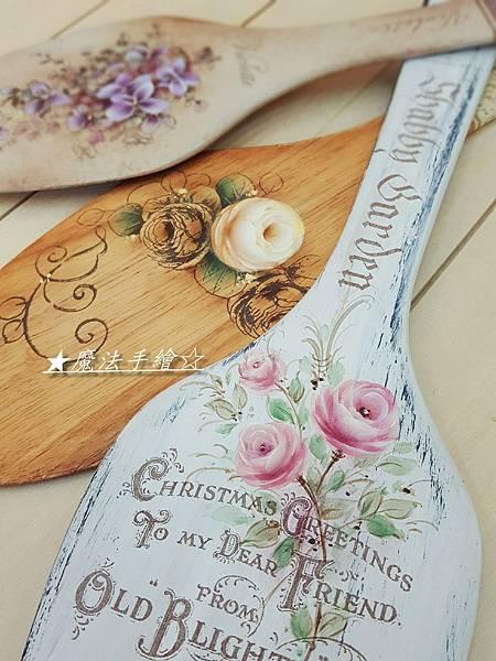 彩繪玫瑰教學-手板彩繪