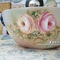 木胚沙拉碗。彩繪教學