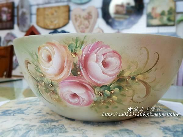 玫瑰彩繪教學推廣。木品彩繪