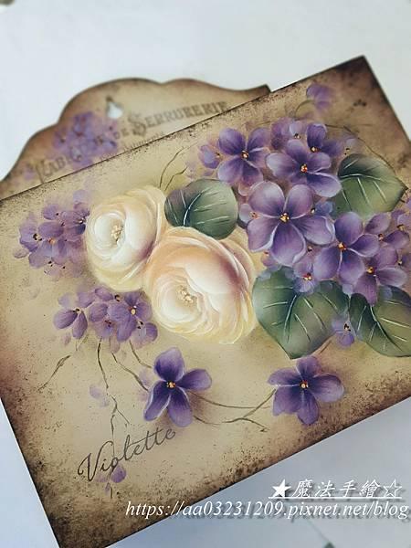 魔法手繪-玫瑰信插盒