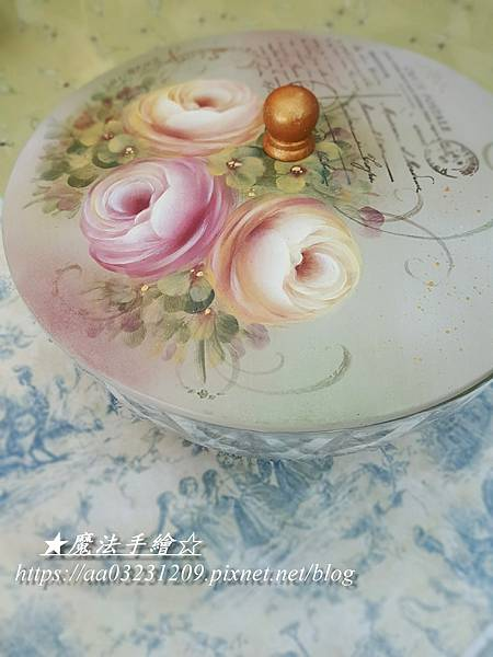 沙拉碗彩繪-玫瑰彩繪教學