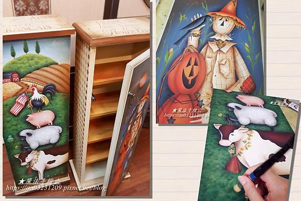 彩繪儲物櫃--美式鄉村櫃