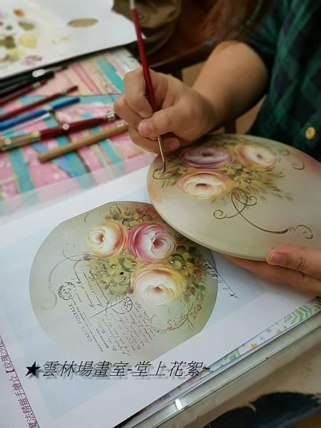 彩繪教學-堂上實景攝/魔法手繪