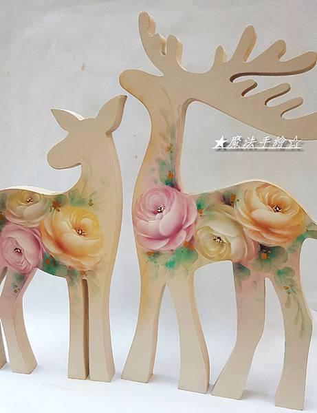 魔法精緻手繪-玫瑰彩繪/麋鹿