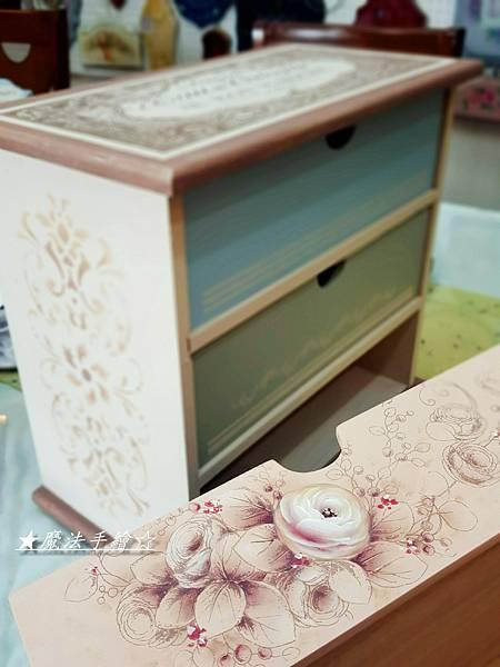 桌上三抽櫃彩繪-魔法手繪教學