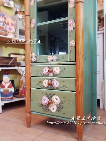 鄉村置物櫃彩繪-鄉村風彩繪-魔法手繪