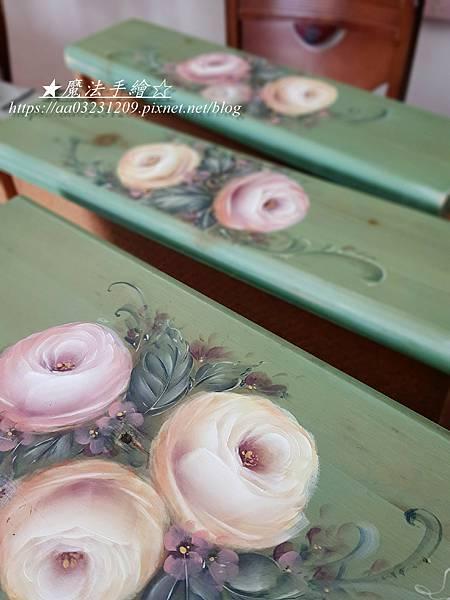 鄉村彩繪-玫瑰彩繪教學