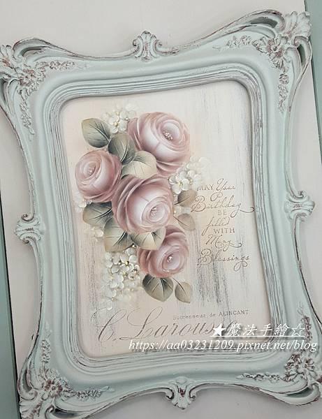 玫瑰彩繪-魔法手繪坊-傢飾彩繪