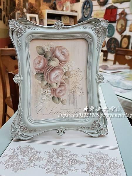 典雅框飾-玫瑰彩繪教學