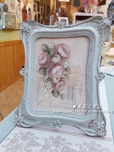 樹脂框飾-彩繪應用-玫瑰彩繪