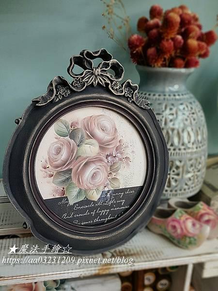 樹脂框-波麗框-玫瑰彩繪研習課
