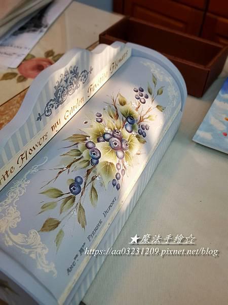 彩繪果物-藍莓作品-魔法手繪坊