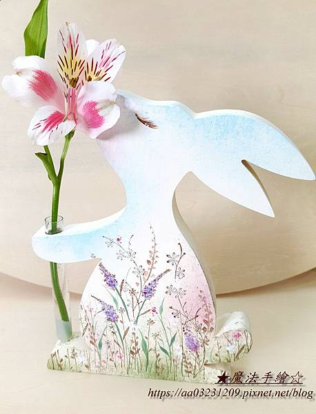 小花兔彩繪-魔法手繪坊