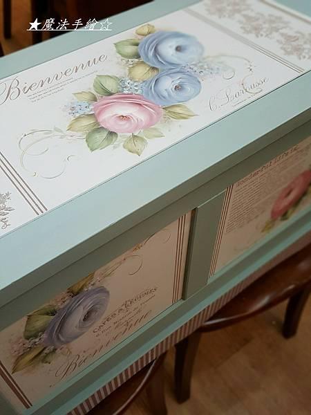 置物箱-掀蓋置物櫃-鄉村木工彩繪