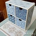 花磚彩繪應用-四格盒彩繪