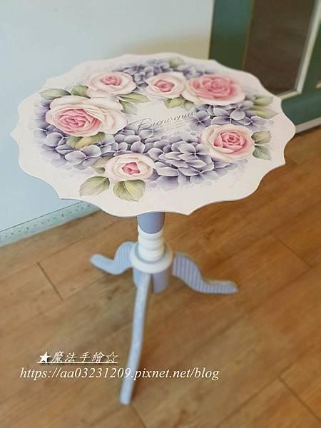 彩繪玄關桌-玫瑰彩繪