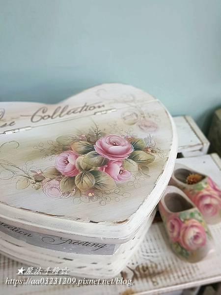 彩繪教學-玫瑰教學-心形盒