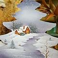 風景彩繪-雪景彩繪-聖誕彩繪