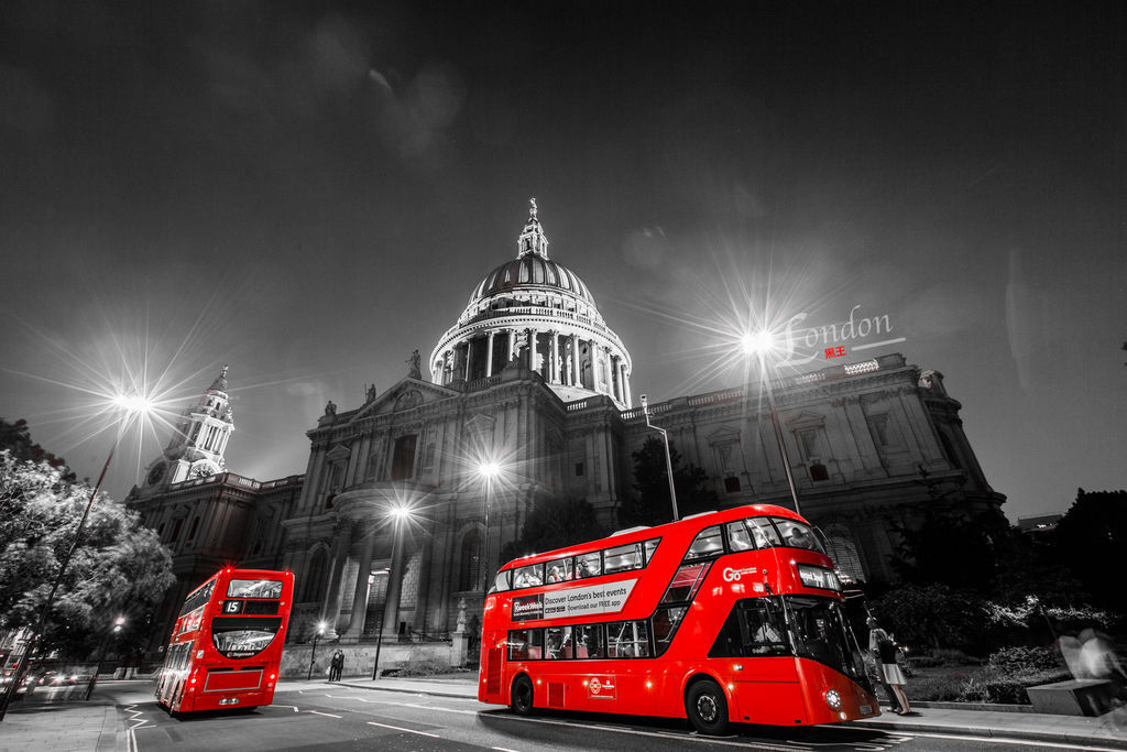 英國三紅、倫敦、聖保羅大教堂、雙層巴士-02.jpg