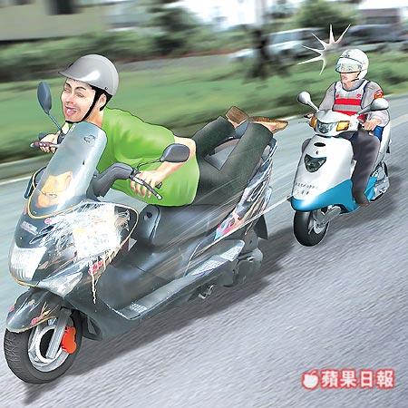 超人姿勢騎機車 罰1萬2.jpg