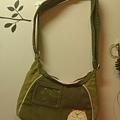 貓咪綠色側背包
