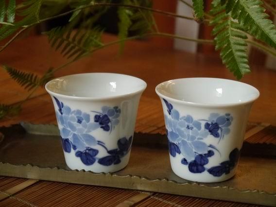 牡丹青花杯-大-1