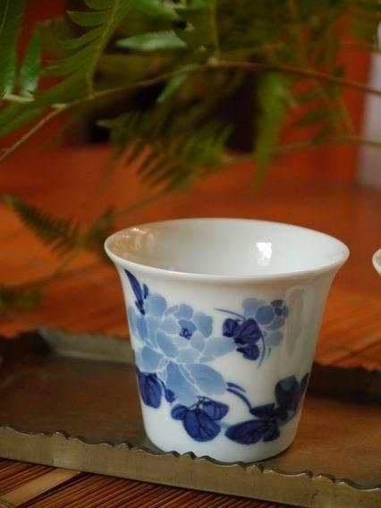 牡丹青花杯-大-2