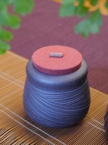 A27霧黑刷紋茶罐-4