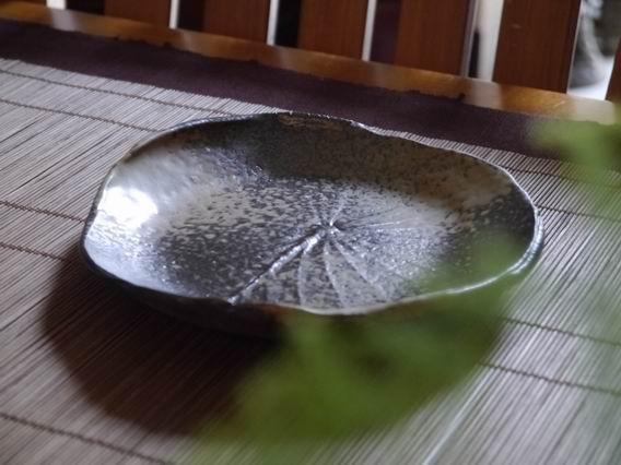 荷葉陶盤-1